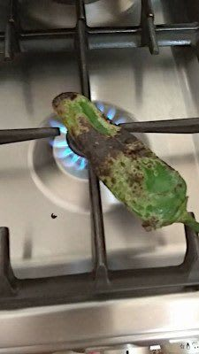 Roasting our Flórina pepper
