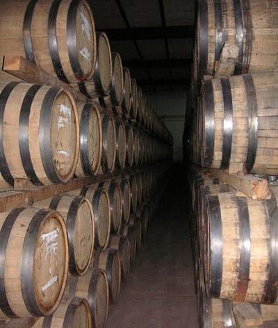 Barrels for the aging of mezcal.