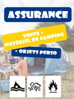 Assurance tente et matériel de camping