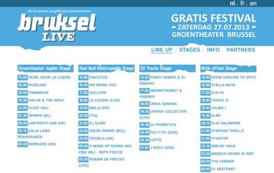 Bruksellive 2013 - Screenshot 1
