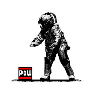 Visual Artwork: Pow Squad Black/White by artist and creator BOT Stencil