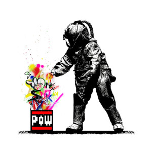Visual Artwork: Pow Squad B/W Martin Whatson Edition by artist and creator BOT x Martin Whatson