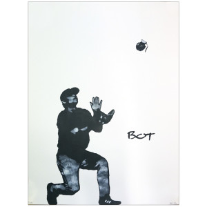 Visual Artwork: Grenade Catcher by artist and creator BOT Stencil