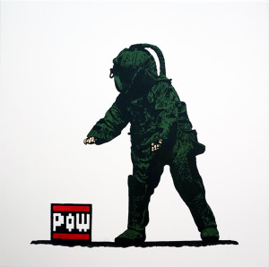 Visual Artwork: Pow Squad Canvas by artist and creator BOT Stencil