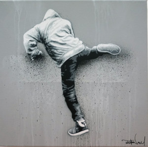 Visual Artwork: Climber Canvas by artist and creator Martin Whatson