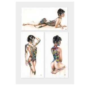 Visual Artwork: Triptych by artist and creator Sandra Chevrier