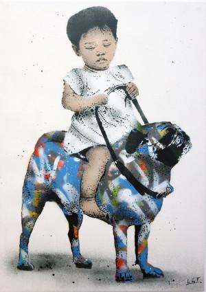 Visual Artwork: Ghetto Dog by artist and creator L.E.T.