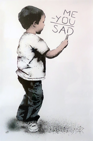 Visual Artwork: Me - You = Sad by artist and creator L.E.T.