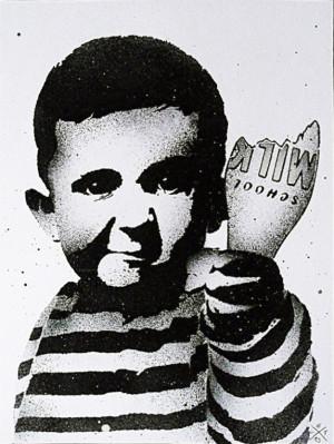 Visual Artwork: School Milk Riot by artist and creator L.E.T.