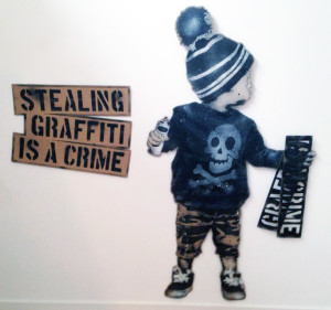 Visual Artwork: Stealing Graffiti Is A Crime by artist and creator L.E.T.