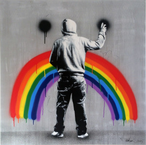 Visual Artwork: Sad Rainbow by artist and creator Martin Whatson