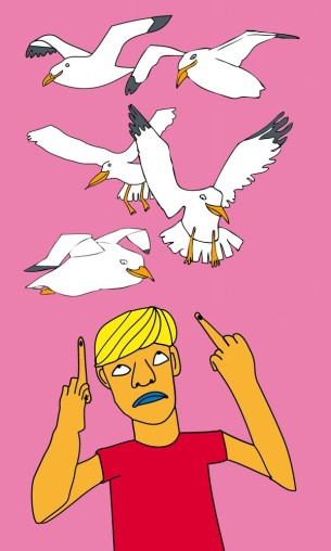 Visual Artwork: I Hate Seagulls by artist and creator Anette Moi