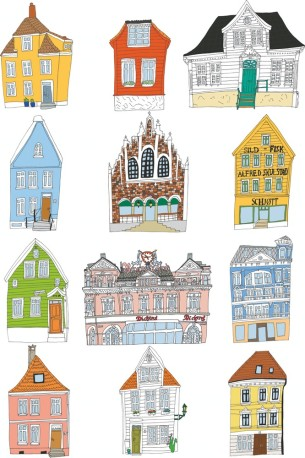 Visual Artwork: Bergen by artist and creator Anette Moi