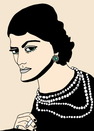 Visual Artwork: Coco Chanel by artist and creator Anette Moi