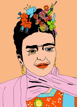 Visual Artwork: Frida by artist and creator Anette Moi