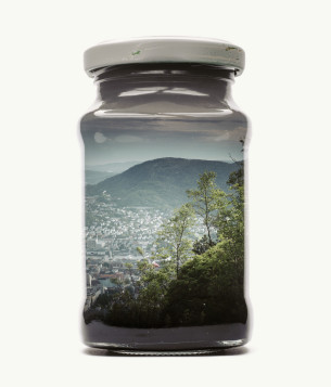 Visual Artwork: Bergen Edition - Jarred Cityscape by artist and creator Christoffer Relander
