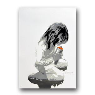 Visual Artwork: Let Us Spray ( Orange ) by artist and creator Canevil