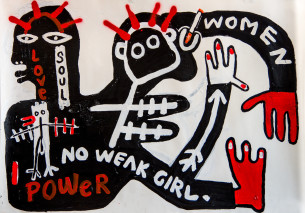 Visual Artwork: No Weak Girl by artist and creator Nina Ghafari