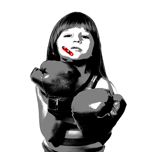 Visual Artwork: Minnie Band-Aid White by artist and creator BOT Stencil