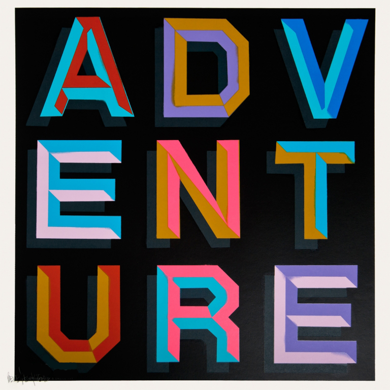 Visual Artwork: Adventure by artist and creator Ben Eine