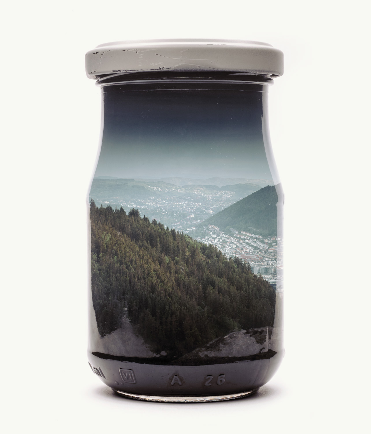 Visual Artwork: Bergen Edition - Jarred Mountain Forest II by artist and creator Christoffer Relander