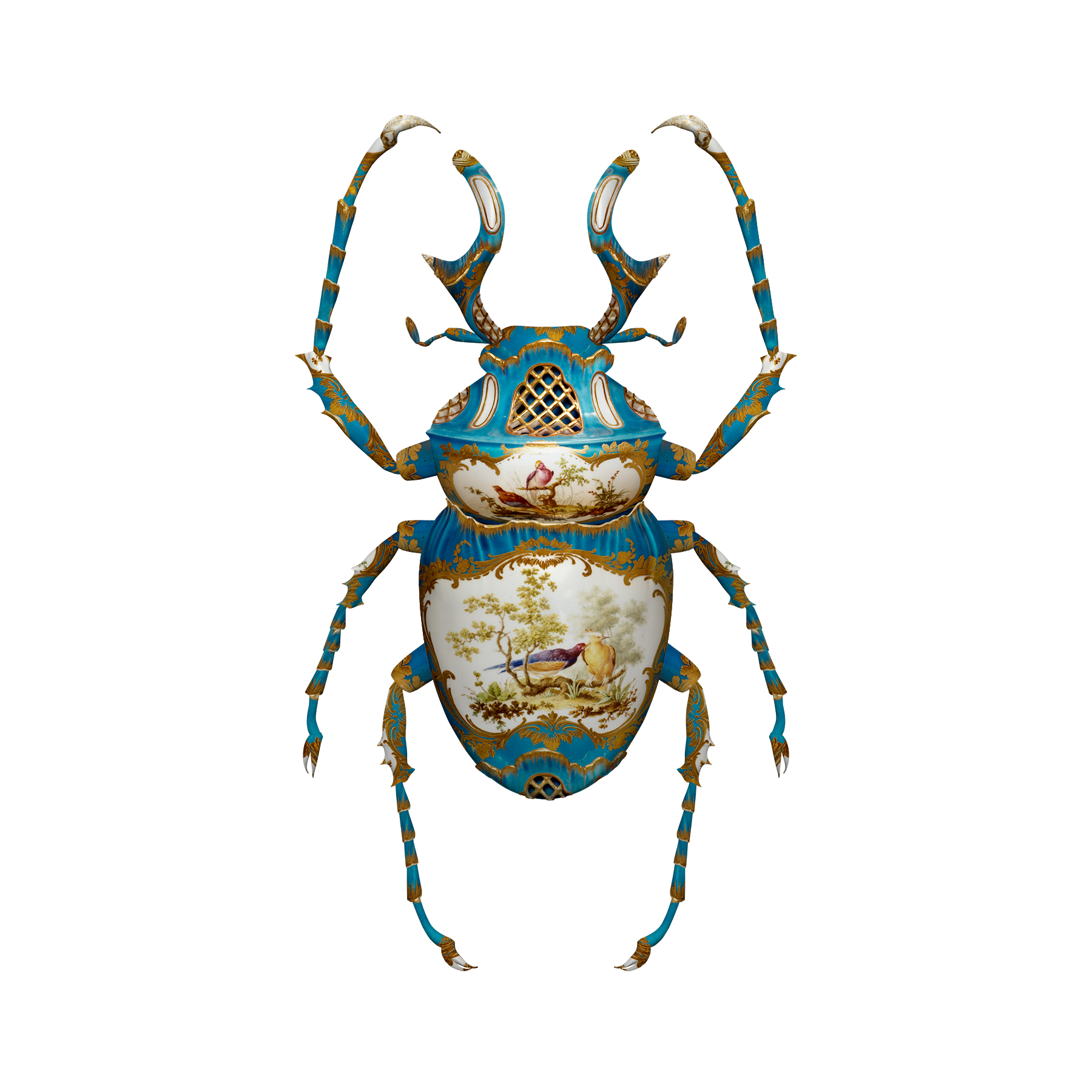 Visual Artwork: SÈVRES DICRANOCEPHALUS WALLICHII by artist and creator Magnus Gjoen