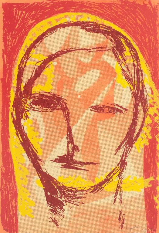 Visual Artwork: UT 2 (Rødt hode) by artist and creator Sverre Bjertnes / Bjarne Melgaard