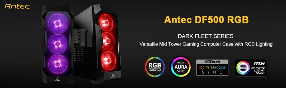 Antec DF500 RGB Dark Fleet Series Gaming Mid-Tower Casing 1
