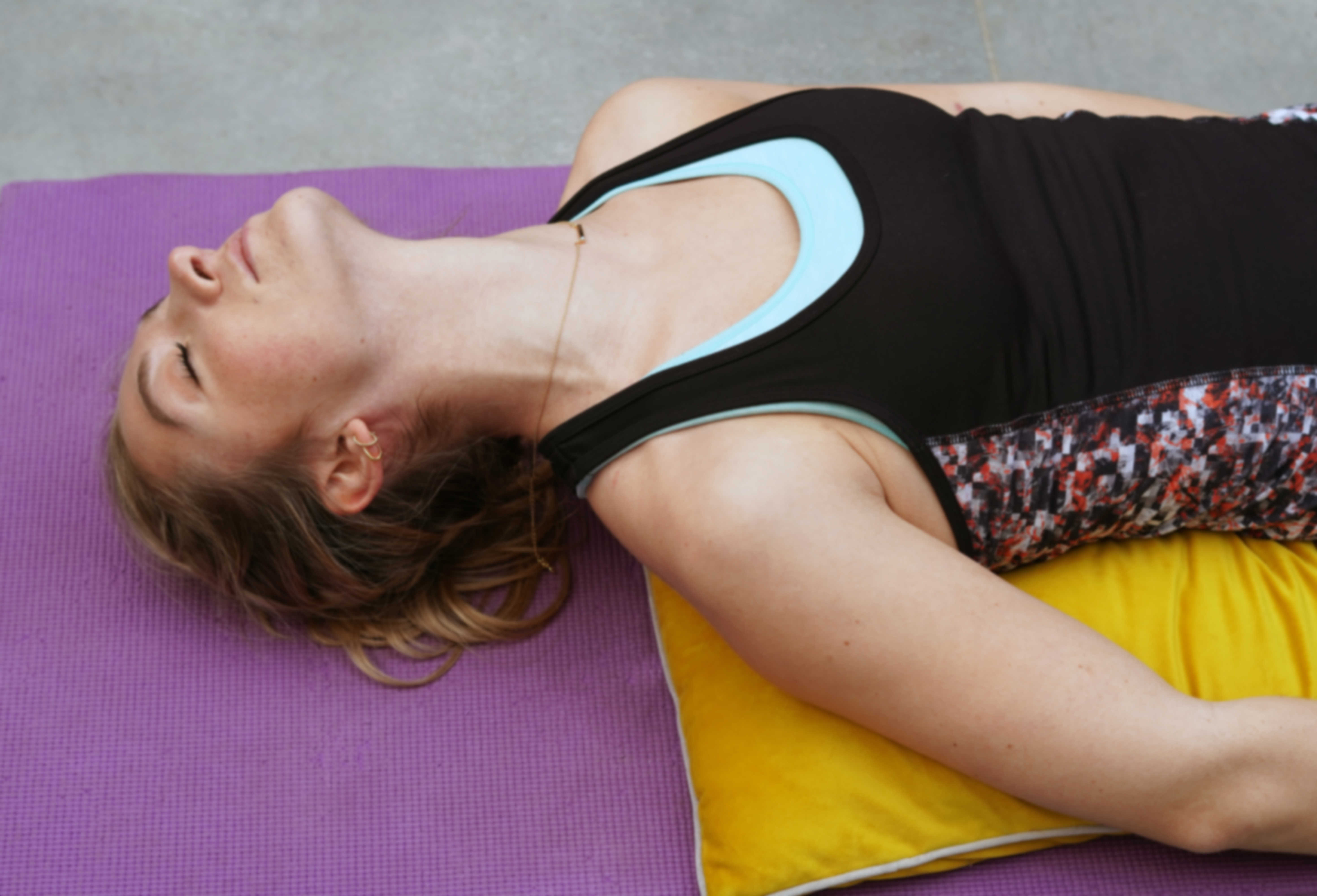 release tension with yoga