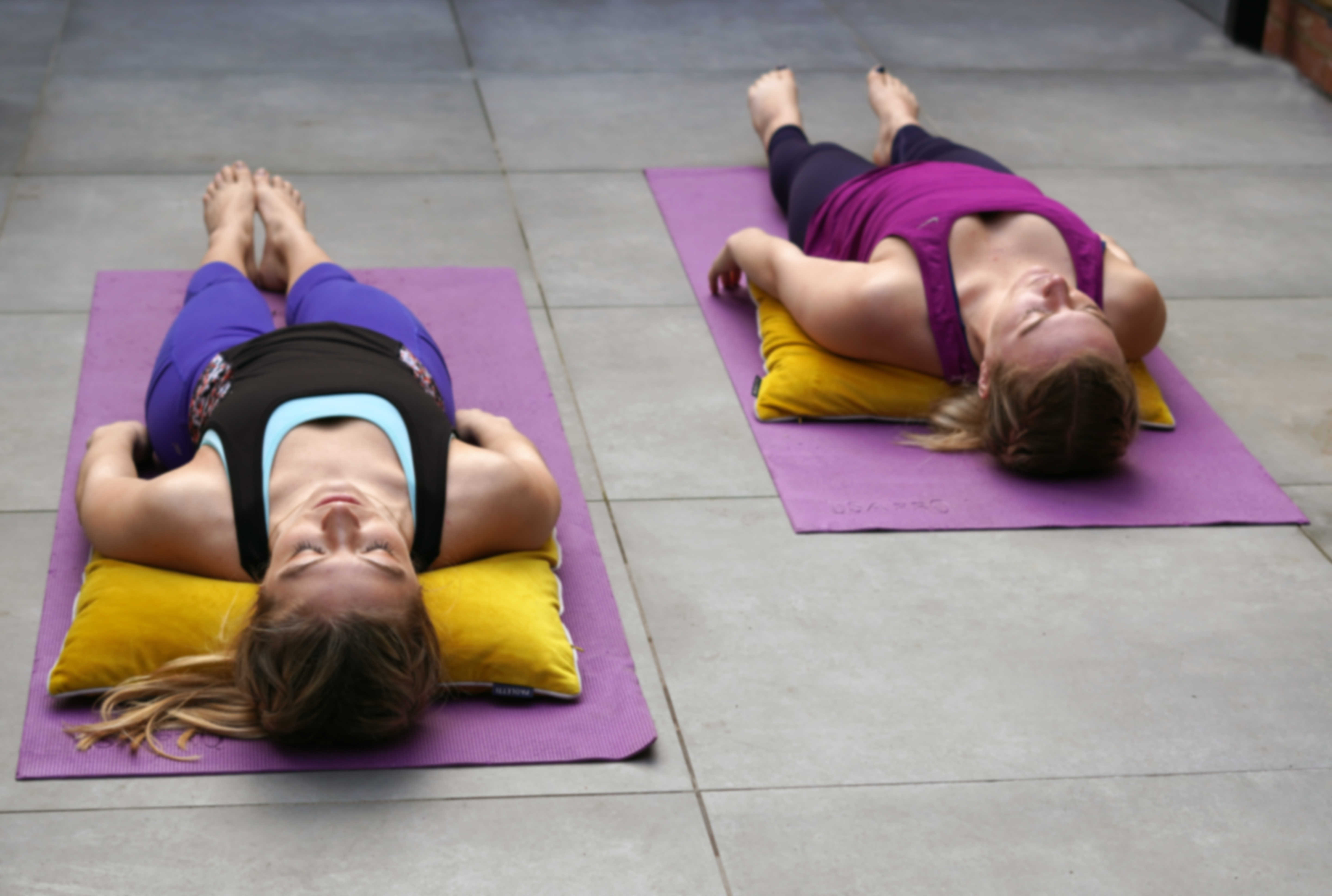 reclined butterfly yoga pose