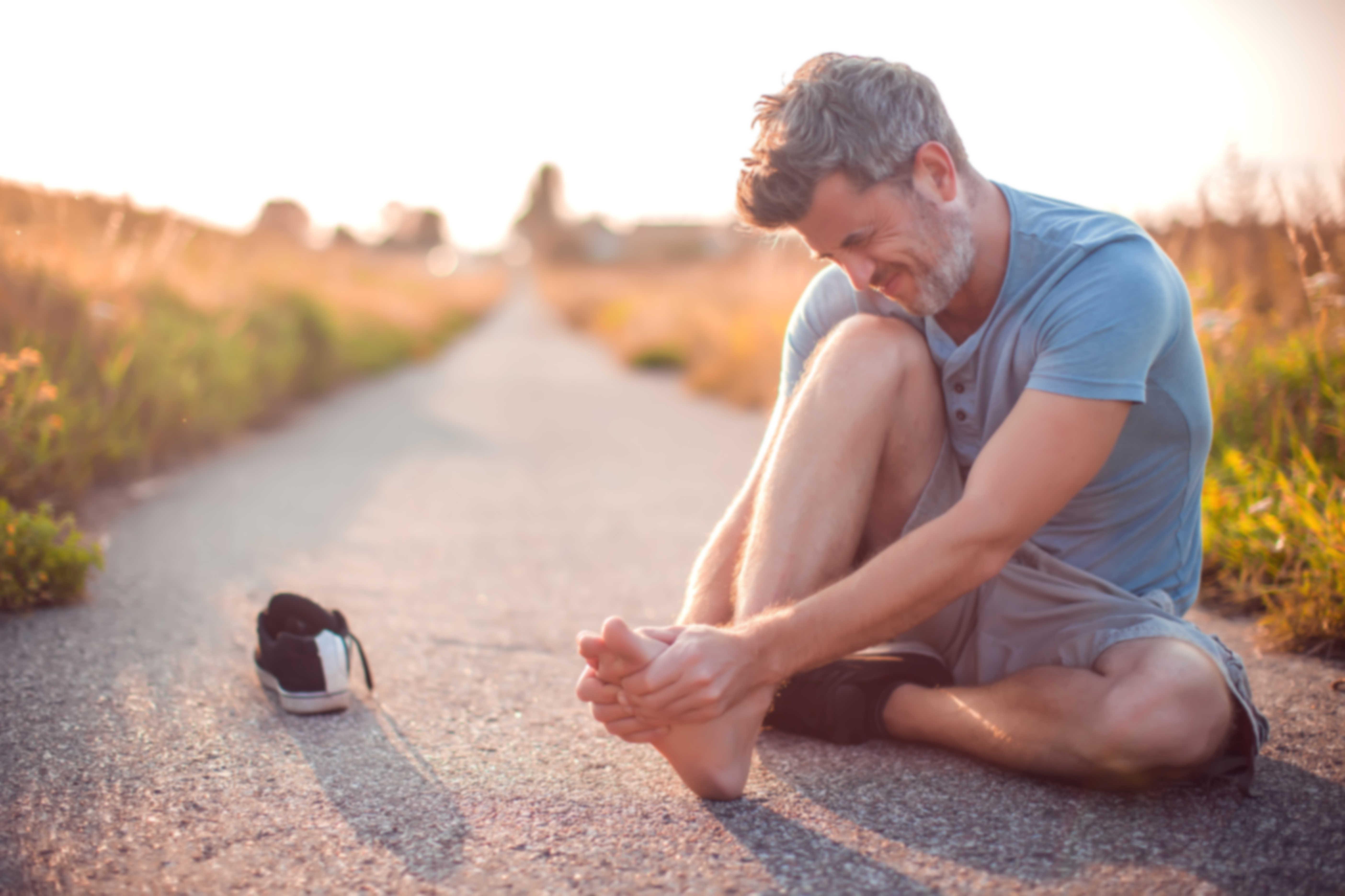 Runners leg cramp