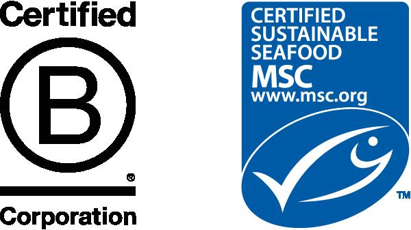 B Corp and MSC logos
