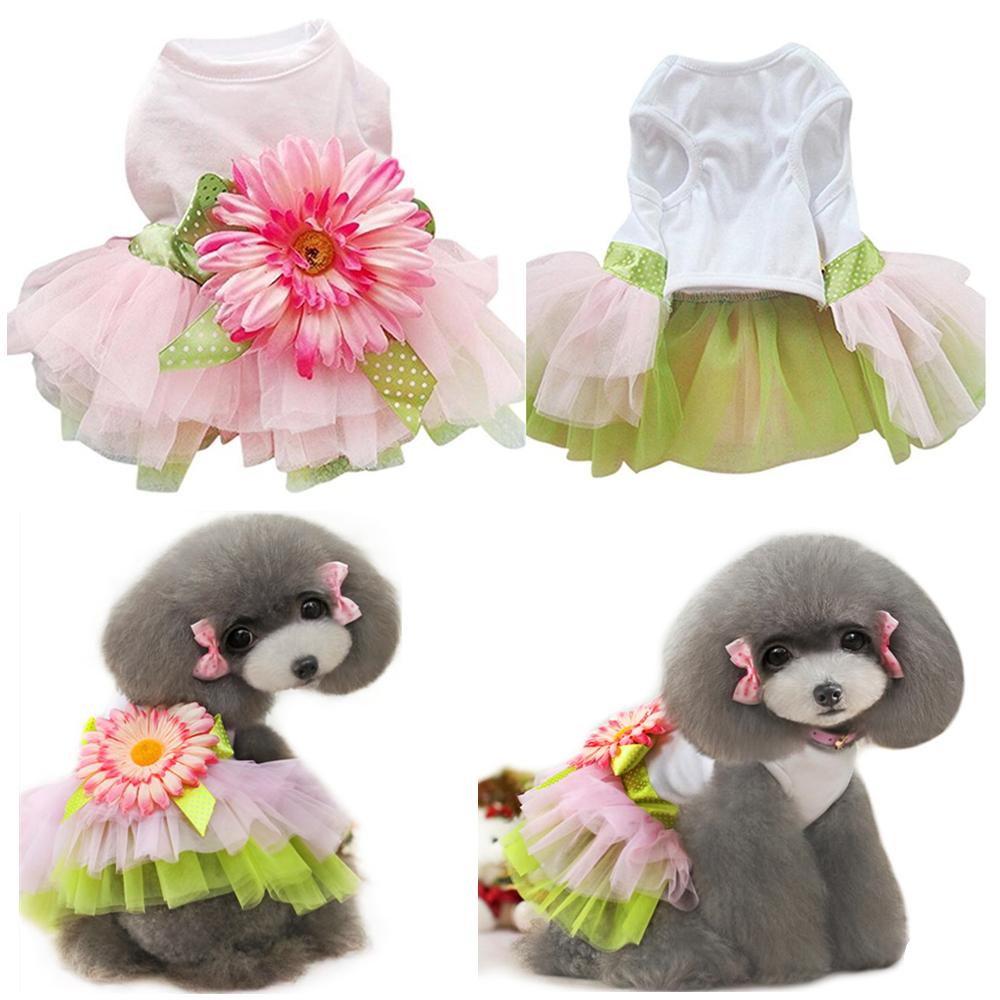 Details about Cute S Small Sunflower Dog Dress Clothes Apparel Schnauzers  Shih Tzu Lot Bulk