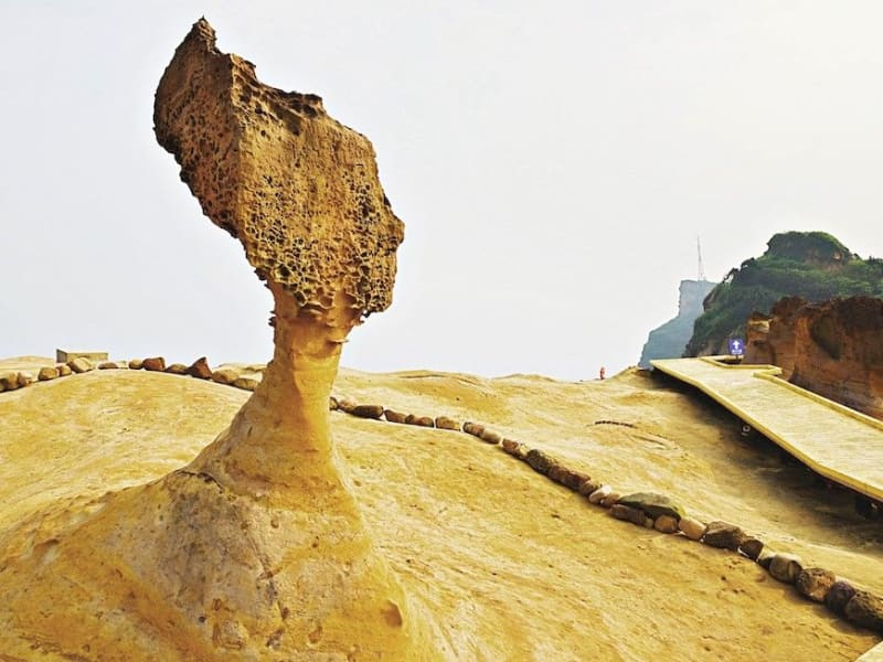 Yehliu, a geological park known for its unusual rock formations.