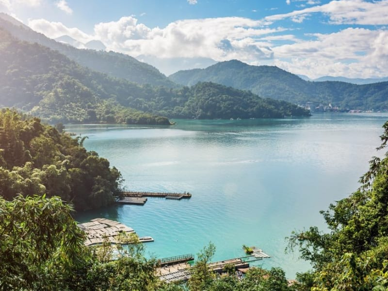 Offering crystal blue water surrounded by lush forests, bamboo and mountains on all sides, Sun Moon Lake is Taiwan's most visited attraction.