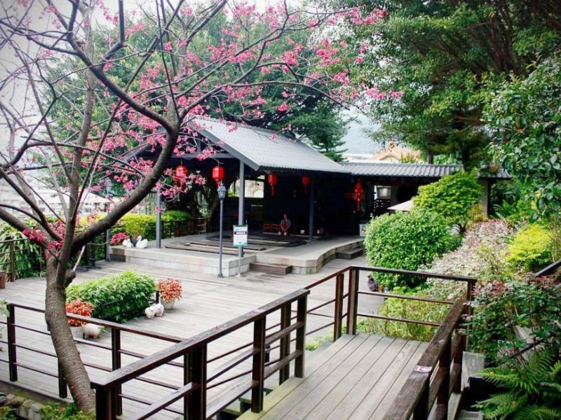 Beitou district, home to Taipei's best Japanese style bath houses.