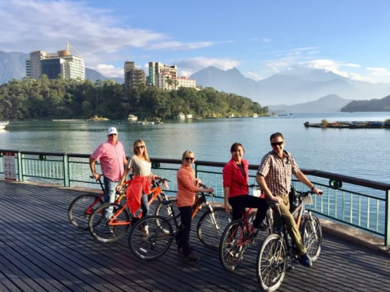 Cycle around Sun Moon Lake, one of the top ten cycling routes in the world listed by CNN Travel