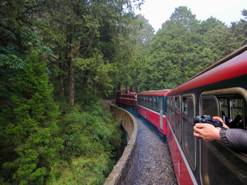 Day 4: Take a ride on the narrow gauge Alishan mountain rail.