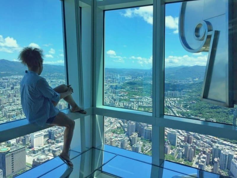 台北101展望台より360度の大パノラマの眺望