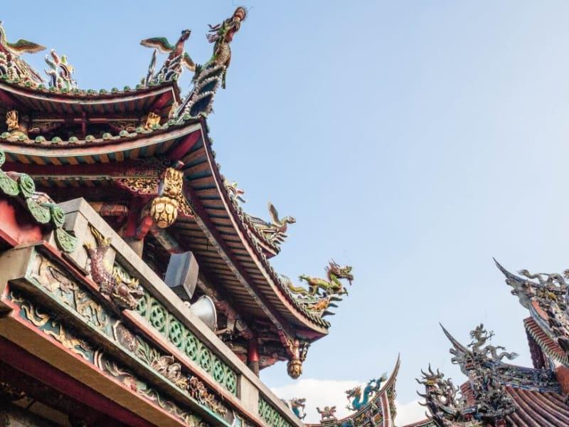 台北の最も代表的な寺廟‐龍山寺を参観