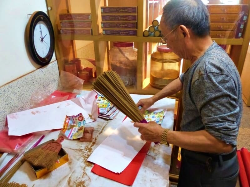 Visit a family-run incense stick shop and take home a piece of Taiwan's spirituality.