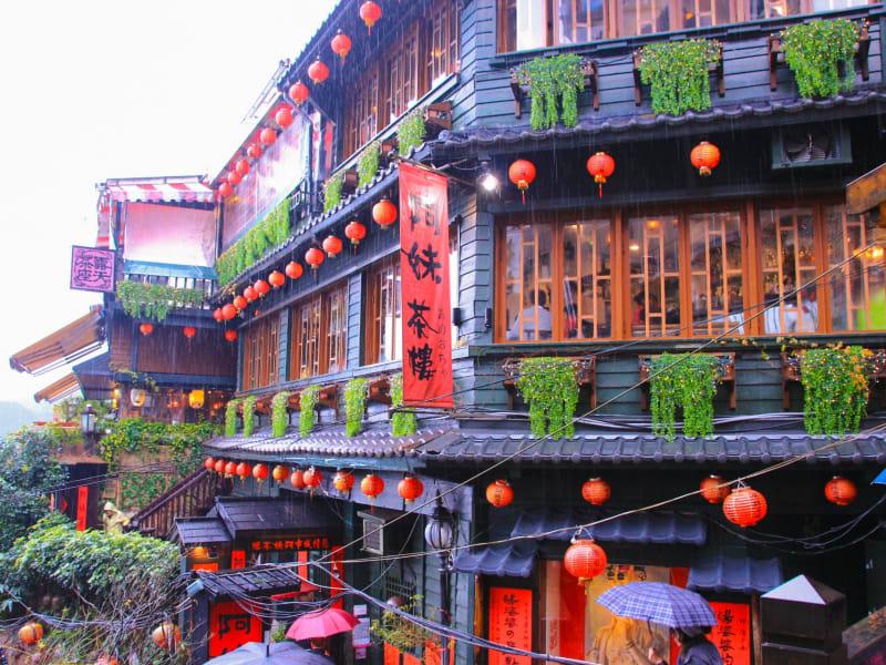 Sip tea in the mountainous, anime-like village of Jiufen