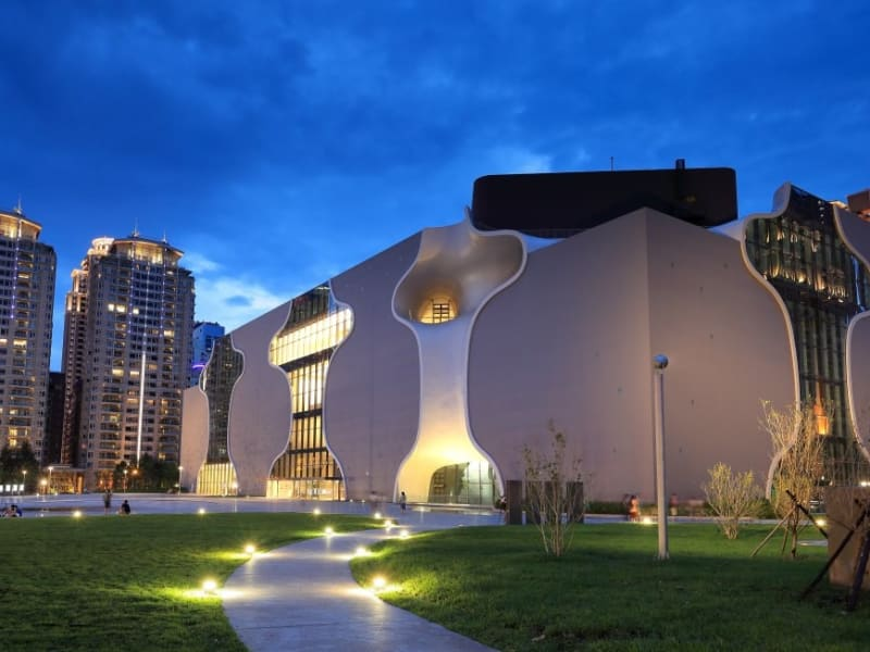 The ultra-modern National Taichung Theater.