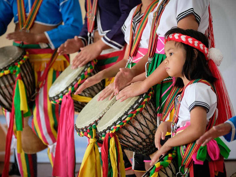 Traditional drumming show