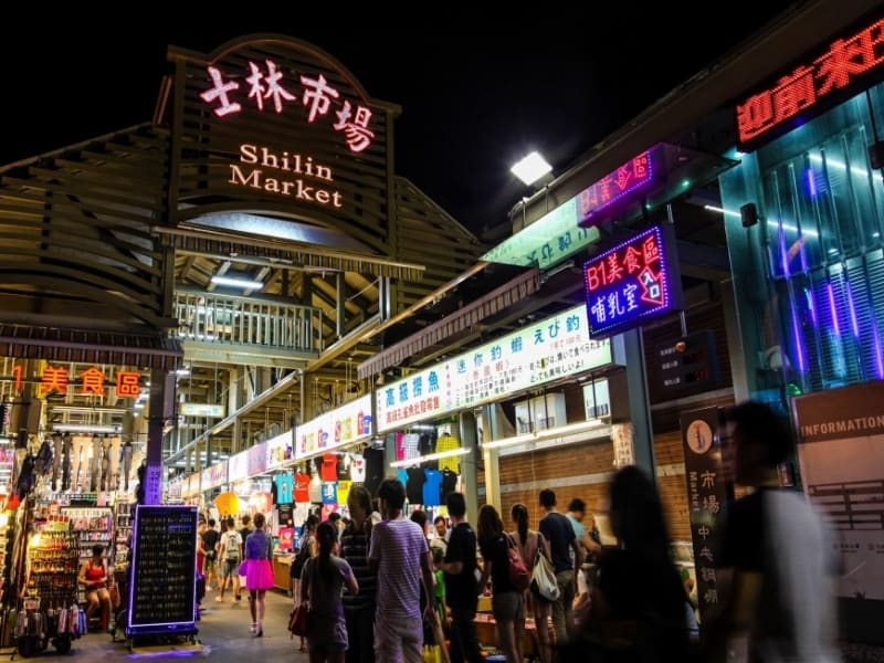 士林夜市(台北最大の夜市)