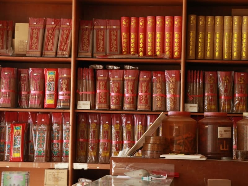 Visit traditional incense store