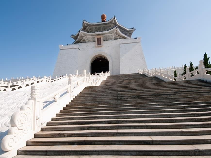 Learn about Taiwan's history at Democracy Plaza and Chiang Kai-Shek Memorial Hall