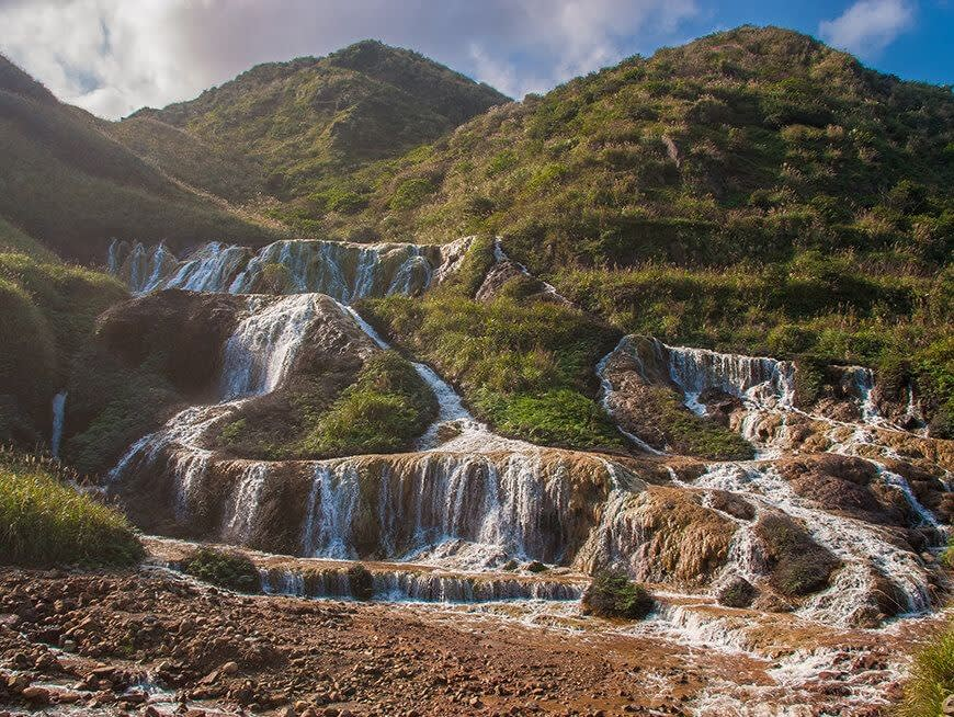 Visit the spectacular Golden Waterfall