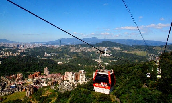 Enjoy a scenic ride over Taiwan's mountains on the Maokong Gondola