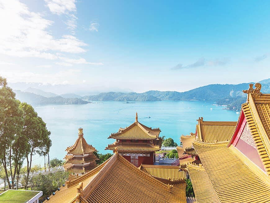Day 3: Enjoy the majestic scenery of Sun Moon Lake from the deck of a pleasure boat